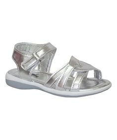 Loving this Silver & White Coco Sandal on #zulily! #zulilyfinds