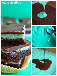 Chocolate Mint Brownies | A delicious an easy dessert that's always a hit!  via www.wineandglue.com