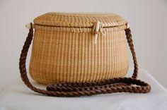 Nantucket Crescent Basket Bag w/ Shoulder Strap by flyingvalise, $39.99