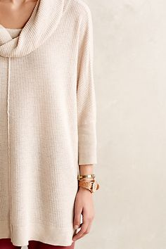 What I'll be wearing all winter. The most comfy sweater! Waffled Cowl Pullover - anthropologie.com