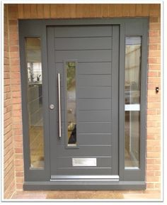 Image result for contemporary front doors with sidelights