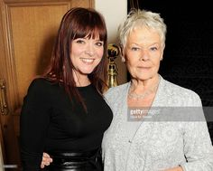 Finty Williams (L) and Dame Judi Dench attend a drinks reception at the 58th London Evening Standard Theatre Awards in association with Burberry at The Savoy Hotel on November 25, 2012 in London, England.