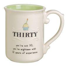 Grasslands Road Sweet Soiree 13-Ounce, 30th Birthday Mug