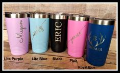 Travel Mug Personalized Coffee Mug Monogrammed Custom Groomsmen Gift Travel Coffee Mug Insulated Travel Cup Tumbler Bridesmaid Gifts Travel Cup, Coffee Travel, Bachelorette Gifts, Handmade Items, Handmade Gifts, Handmade Wedding, Personalized Wedding, Personalized Coffee Mugs, Monogram Fonts