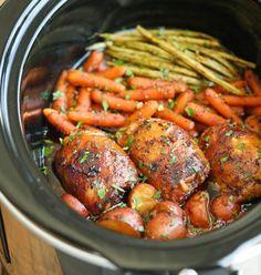 Recette Poulet et légumes dans une sauce miel et ail à la mijoteuse