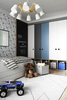 Kids Lighting Bedroom Ideas - Kamar anak - Lilly is Love Baby Bedroom, Baby Boy Rooms, Kids Bedroom, Kids Rooms, Bedroom Small, Baby Zimmer Ikea, Boys Bedroom Furniture, Kids Furniture, Wooden Bedroom