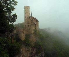 Lichtenstein castle was there as child. Draw bridge and cliff. Exactly what u expect as a kid