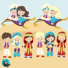 80% OFF SALE Aladdin clipart commercial use by Prettygrafikdesign