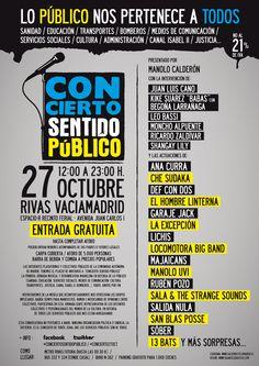"""Cartel """"Concierto Sentido Público"""""""