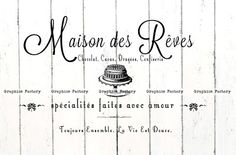 French Typography ♦ Vintage French Inspired Digital Collage Sheets ♦ Vintage French ads