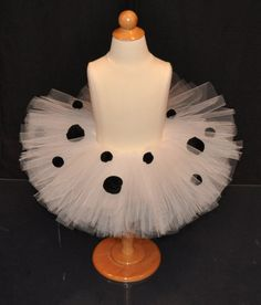Dalmation Halloween Costume- Tutu, Removable Tail, and Ears. $30.00, via Etsy.
