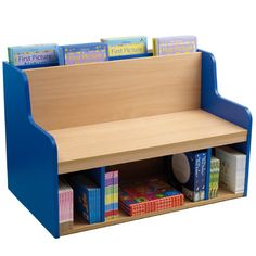 Book Bench - 2 in 1 seating and book storage to save space in a small library, classroom or reading area.
