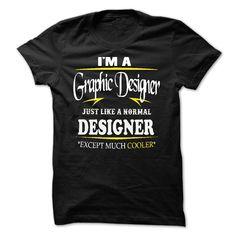Graphic Designer cooler T-Shirts, Hoodies. VIEW DETAIL ==► https://www.sunfrog.com/LifeStyle/Graphic-Designer-cooler.html?id=41382
