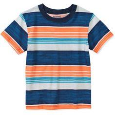 Garanimals Baby Toddler Boy Short Sleeve Tee Shirt- Size 3T, Blue, Green and Navy