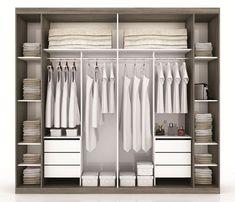 Closet - By mercadomoveis Wardrobe Room, Wardrobe Design Bedroom, Built In Wardrobe, Closet Bedroom, Bedroom Storage, Bedroom Decor, Diy Walk In Closet, Bedroom Cupboard Designs, Closet Layout
