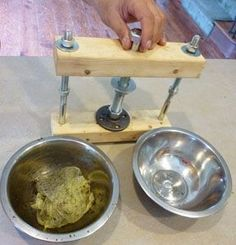 How to make a homemade tincture press:
