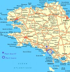 Brittany Map | Maps, Charts, & Graphs | Pinterest | Brittany, Bretagne and France