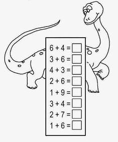 Addition Worksheets for Kindergarten Addition Worksheets, Kindergarten Math Worksheets, Preschool Printables, Preschool Math, Math Resources, Math Addition, Teaching Math, In Kindergarten, Kindergarten Addition