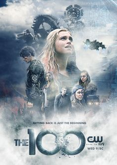'The 100 Season 5 ' Poster by thescarletwoman The 100 Tv Series, The 100 Serie, The 100 Cast, The 100 Show, Cw Series, Poster Series, Fan Poster, Print Poster, Bob Morley