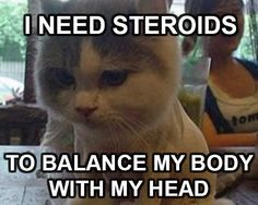 I need steroids