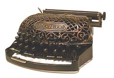 Ford Typewriter with ornate copper decor from JB's Vintage Vintage Typewriters, Vintage Cameras, Writing Machine, Antique Typewriter, Old Technology, Copper Decor, Weird And Wonderful, Old Antiques, Fountain Pen