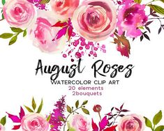 Pink Peach Roses Watercolor Flowers Peonies Clipart Set Wedding Floral Wreaths Clip Art Digital Florals DIY Invitation Free Commercial Use/afflink Clipart, Peach Peonies, Pink Roses, Peach Flowers, Boho Flowers, Beautiful Flowers, Floral Bouquets, Floral Wreaths, Pastel Bouquet