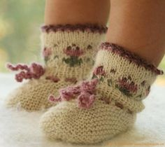 knitted socks.  Seriously, what's better than baby feet?