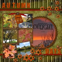 I was looking around for some Fall inspired layouts and came across this one…
