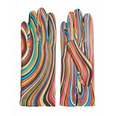 Paul Smith Multi Swirl Leather Gloves  #pattern