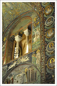 Oh how I wanted to name one of the girls Ravenna after this place.Ravenne (Italie) - Basilique Saint-Vital / Basilica di San Vitale (VIe) by Rome Florence, Ravenna Italy, Byzantine Art, Cathedral Church, Early Christian, Italian Art, Chapelle, Medieval Art, Place Of Worship