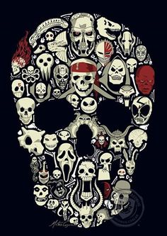Skulls. Can you name them all? Skulls by Mateus Cosme