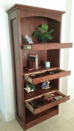 Secret Bookshelf System - Top Secret Furniture