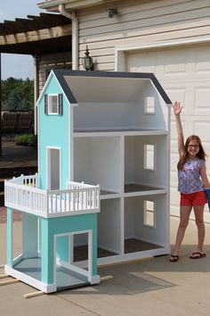 Doll house plans barbie american girls ideas for 2019 Casa American Girl, American Girl Doll Room, American Girls, American Girl Dollhouse, American Girl Doll Things, American Girl Storage, American Girl Crafts, Doll House Plans, Barbie Doll House