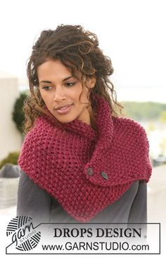 DROPS neck warmer in seed st in Eskimo. Free knitting pattern by DROPS Design. Poncho Knitting Patterns, Easy Knitting, Knitting Stitches, Scarf Patterns, Finger Knitting, Knitting Tutorials, Crochet Scarves, Crochet Shawl, Knit Crochet