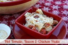 Mommy's Kitchen - Recipes From my Texas Kitchen: Hot Tomato, Bacon & Chicken Pasta & {The Southern Bite Cookbook Review & Giveaway}