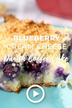 Blueberry Cream Cheese Danish Coffee Cake by I Breathe I'm Hungry. Pin created by GetSnackable.com. Low carb recipes, keto dessert recipes, blueberry coffee cake, low carb dessert recipes, easy keto desserts, low carb sweets, low carb sweet snacks, low carb cake, easy low carb desserts, keto cake recipe, atkins desserts, blueberry coffee cake recipe, low carb desserts with cream cheese, cream cheese coffee cake, easy cream cheese desserts, almond flour recipes keto, best low carb desserts.