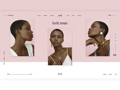 Pink Jewellery designed by Ilya. Connect with them on Dribbble; the global community for designers and creative professionals. Website Design Layout, Homepage Design, Newsletter Design, Best Web Design, Web Layout, Creer Un Site Web, Presentation Layout, Branding, Pink Jewelry