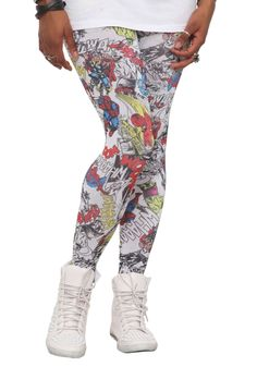 Marvel Universe Heroes Leggings from Hot Topic | More Marvel Stuff Than I Can Afford