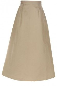 Long, modest girl's skirt - Classic A-Line in khaki I've been to this website before but I totally forgot about it