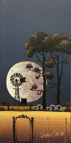 Abstract Landscape Painting, Landscape Art, Landscape Paintings, South Africa Art, Farm Windmill, Canvas Painting Projects, Old Windmills, Book Page Art, Bright Paintings