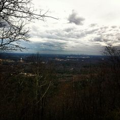 The view from the top of Kennesaw Mountain in Kennesaw, Georgia.