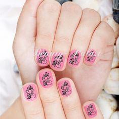 "#nailart Nailart Tattoo "" Schwarze Blume"" 1,89€ kostenloser Versand www.beauty-palast.net"