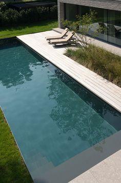 Natural Swimming Pools, Swimming Pools Backyard, Swimming Pool Designs, Small Backyard Pools, Outdoor Landscaping, Outdoor Pool, Outdoor Decor, Pool Fountain, Backyard Pool Designs