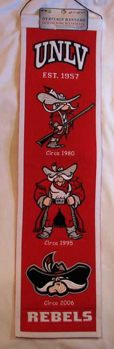 Vertical banners chronicle the evolution of select logos or mascots through  the years - Each e20b01c9aa38