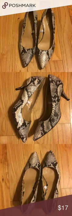 Merona Snakeskin high heels Super sexy heels. You can't go wrong with these stylish pair. Only worn once. Merona Shoes Heels