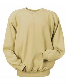 Badger Crewneck Sweatshirt Athletic performance and aggressive promotions Ring-spun 60% cotton/40% polyester 9.5-oz. Softer feel and low pilling Athletic cut Badger Sport paneled shoulder for maximum movement V-patch front and half moon back.
