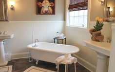 1930's farmhouse remodel - Google Search  tub at an angle