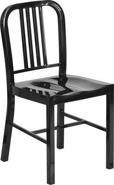 Black Metal Chair CH-31200-18-BK-GG