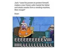 Jack isn't evil... Dean you need to chillllll