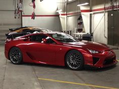 The first Pearl Red LFA Nurburgring Edition makes its U.S. debut.